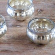 Three Vintage Style Tealight Holders